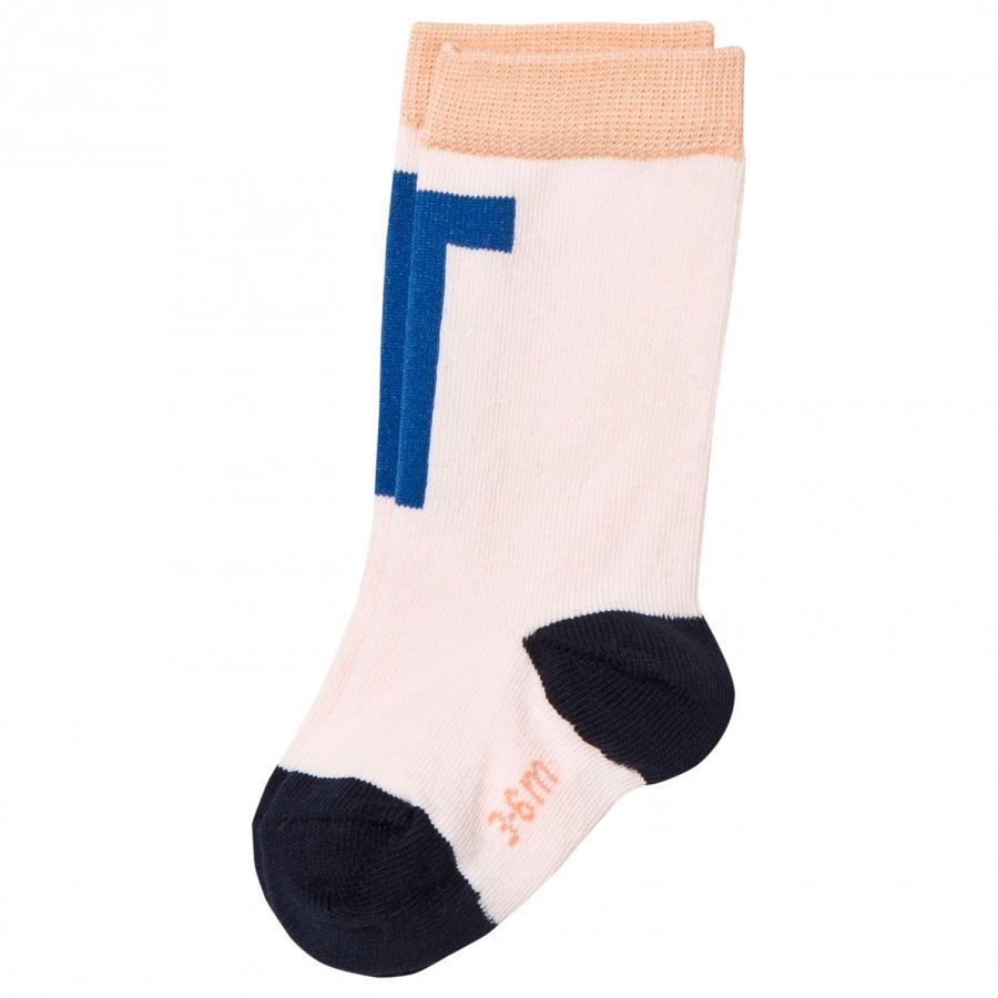 Tinycottons T High Socks Pale Pink/Blue Sukat