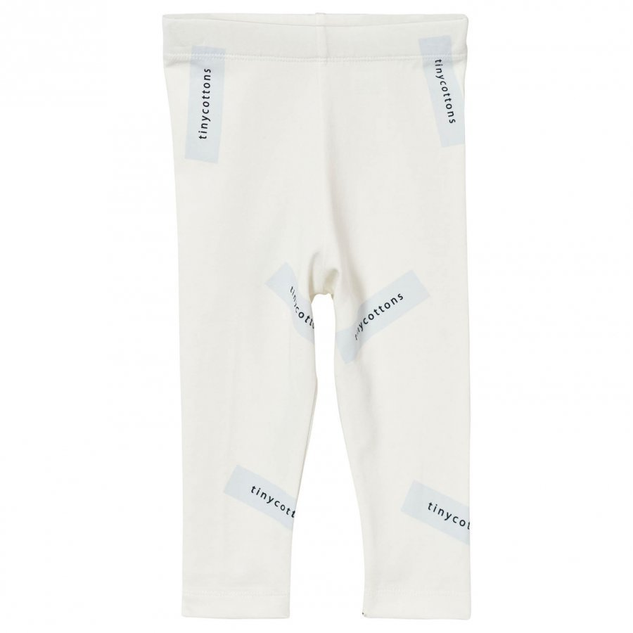 Tinycottons Tiny Logo Pants Off White/Light Blue Legginsit