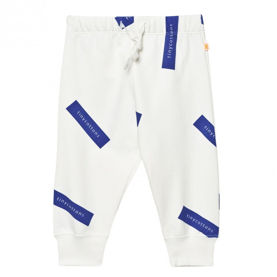 Tinycottons Tiny Logo Sweat Pants Off White/Blue Verryttelyhousut
