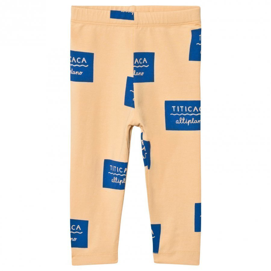 Tinycottons Titicaca Badge Pant Nude/Blue Legginsit