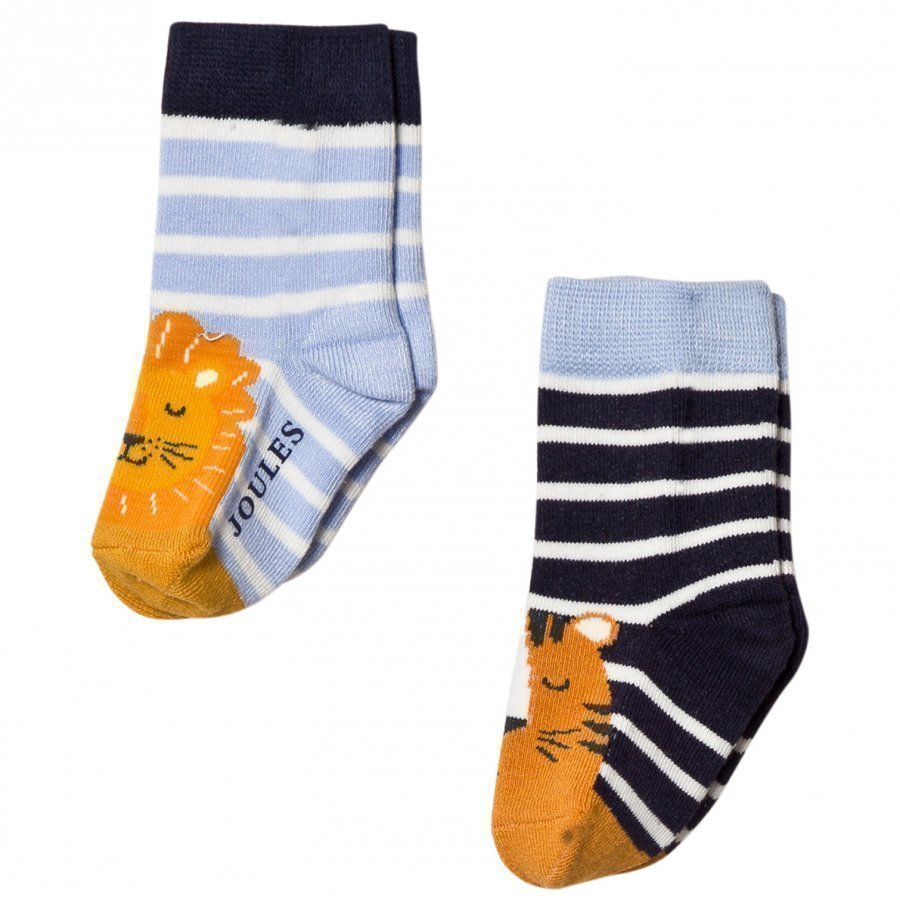 Tom Joule 2 Pack Navy Lion Socks Sukat