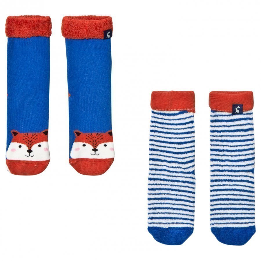 Tom Joule 2 Pack Of Fox And Stripe Socks Sukat