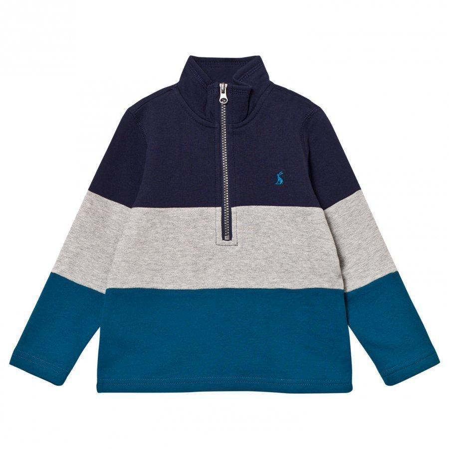 Tom Joule Blue And Navy Colour Block Half Zip Sweatshirt Oloasun Paita