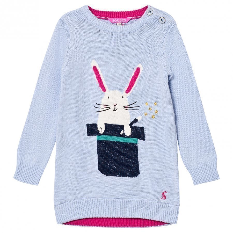 Tom Joule Blue Bunny In A Hat Knit Dress Mekko