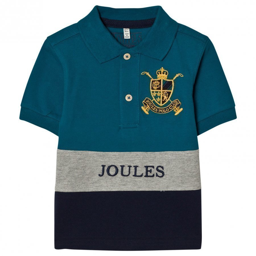 Tom Joule Blue Navy Color Block Polo Pikeepaita