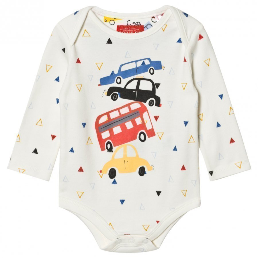 Tom Joule Cream Car Print Baby Body