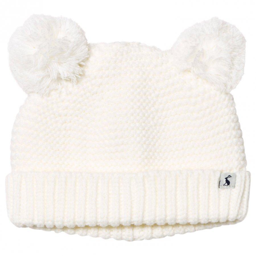 Tom Joule Cream Knit Hat Pom Poms Pipo