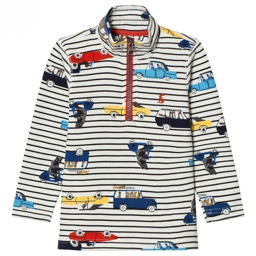Tom Joule Cream Stripe Car Print Sweatshirt Oloasun Paita