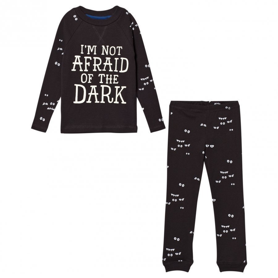Tom Joule Dark Grey Glow In The Dark Eye Pyjamas Yöpuku