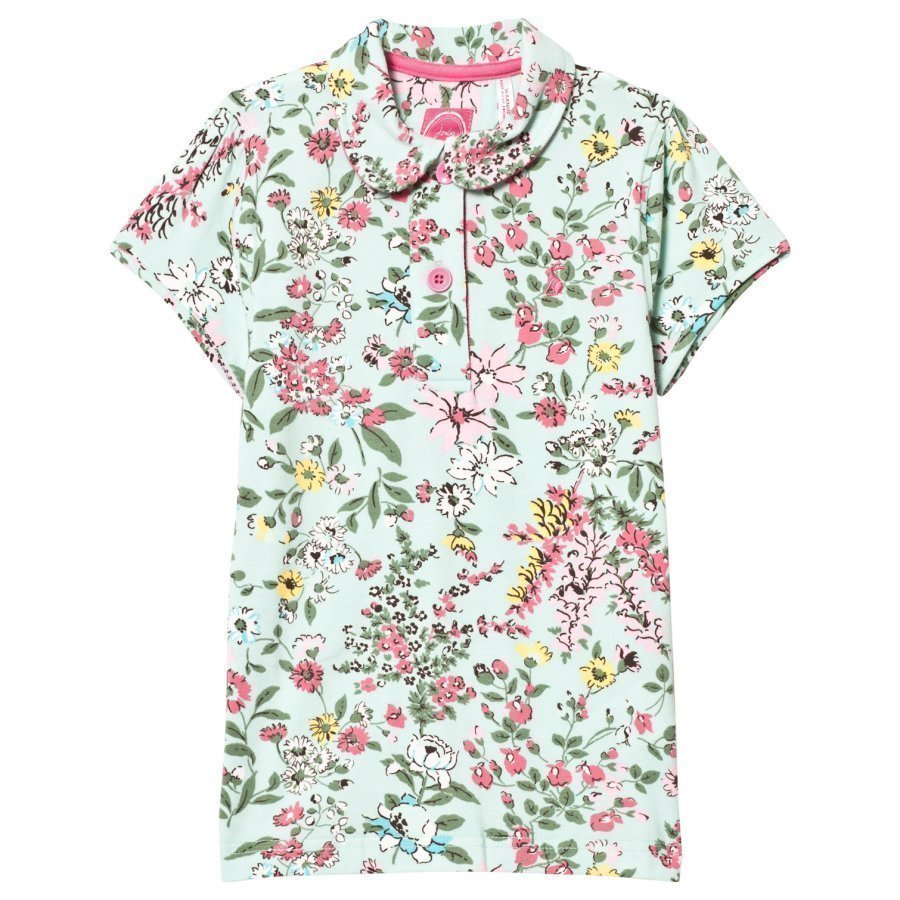 Tom Joule Green Flowered Polo Tee T-Paita