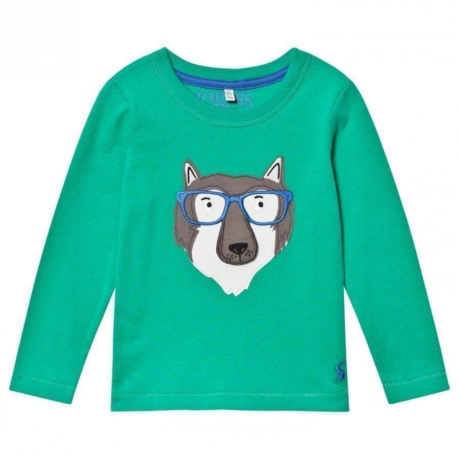 Tom Joule Green Wolf Applique Tee Pitkähihainen T-Paita