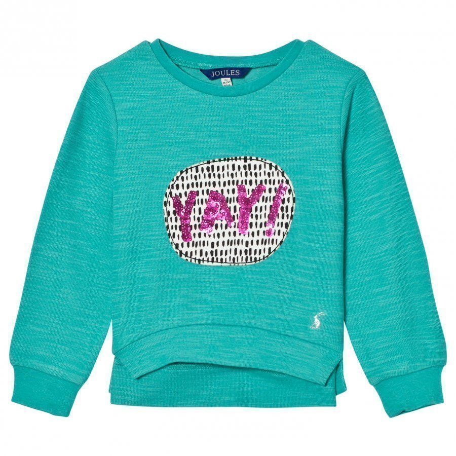 Tom Joule Green Yay Sequin Applique Sweatshirt Oloasun Paita