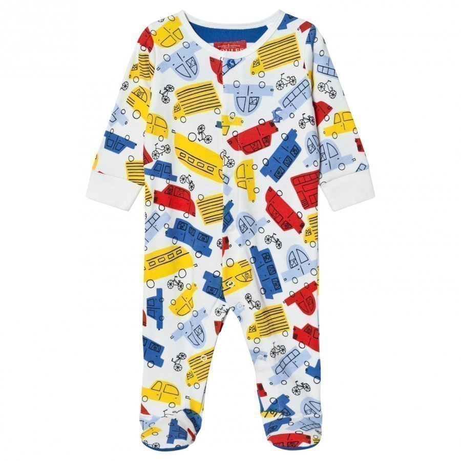 Tom Joule Multi Car Print Footed Baby Body