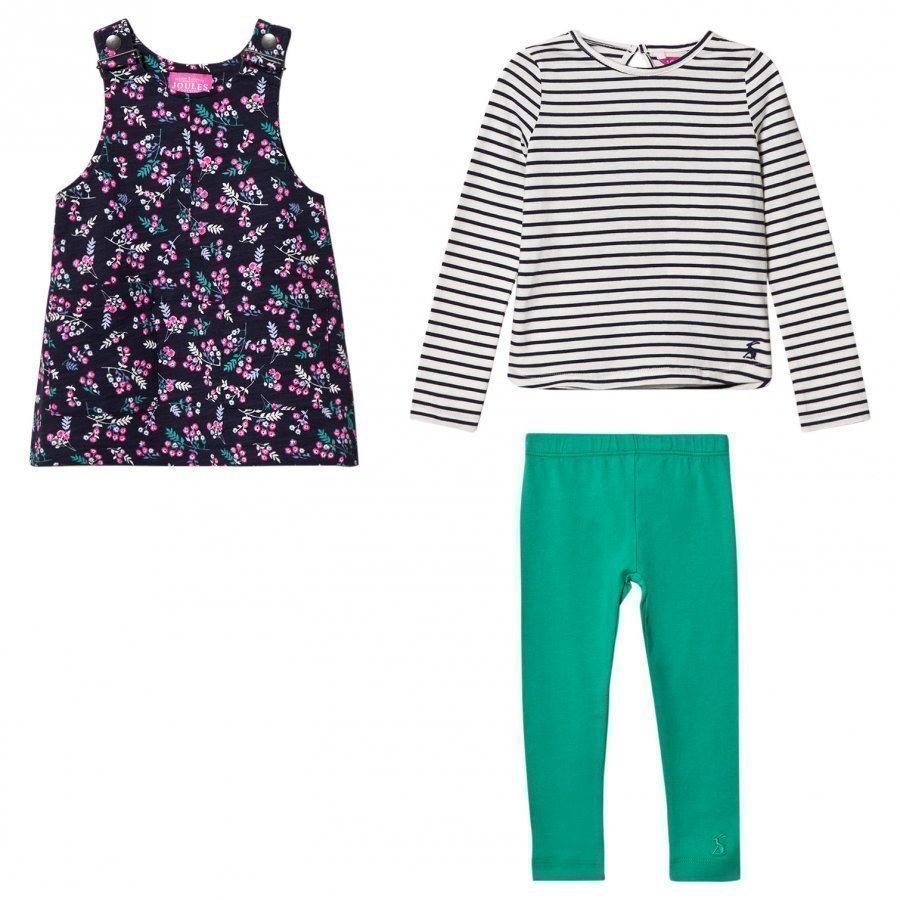 Tom Joule Navy Floral Dress Tee Leggings Set Asusetti