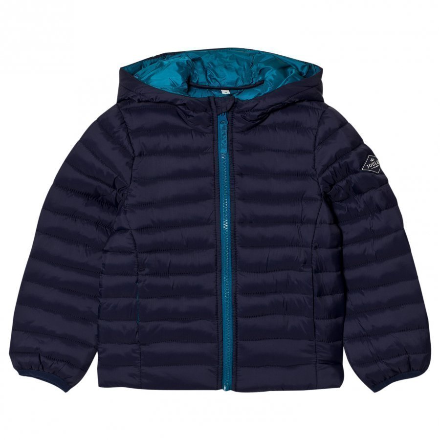 Tom Joule Navy Hooded Pack-Away Puffer Jacket Toppatakki
