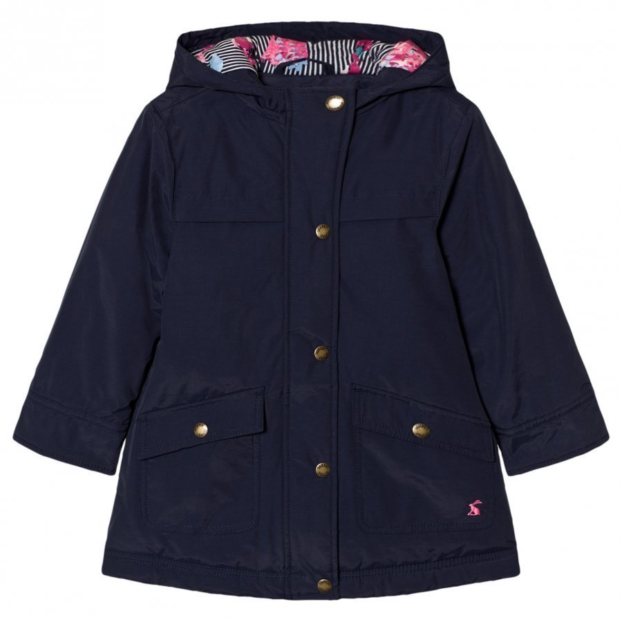 Tom Joule Navy Hooded Parka Parkatakki