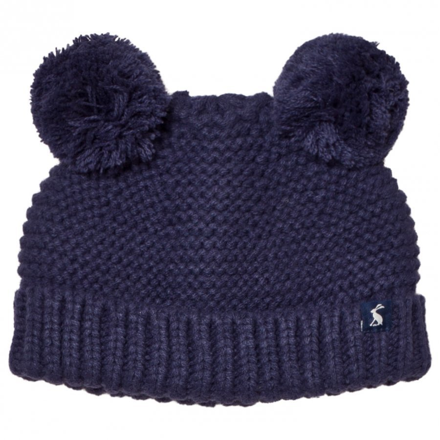 Tom Joule Navy Knit Hat With Pom Poms Pipo