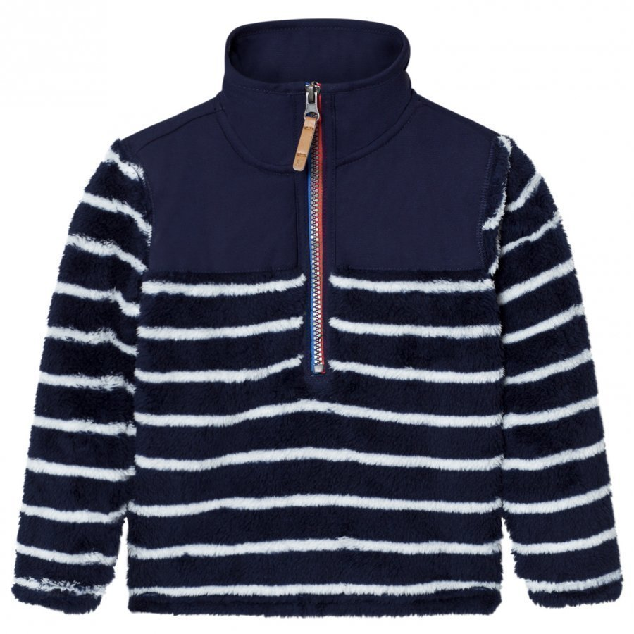 Tom Joule Navy Stripe Wolze Zip Fleece Paita