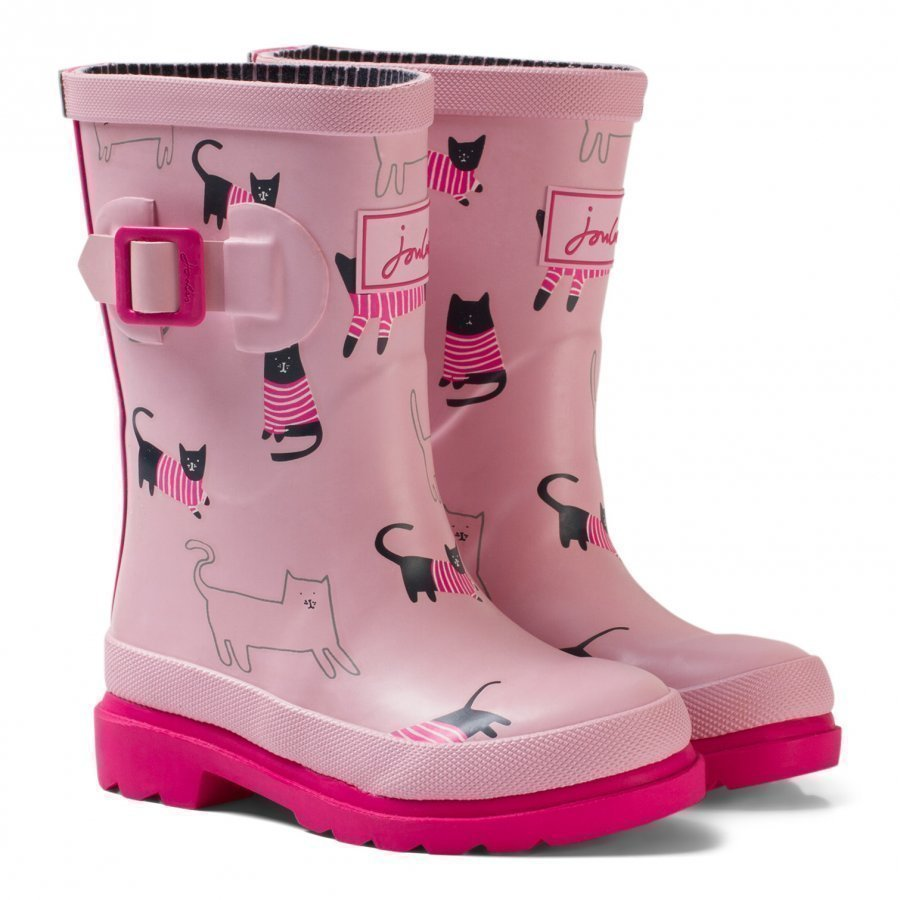 Tom Joule Pink Cat Print Rubber Boots Kumisaappaat