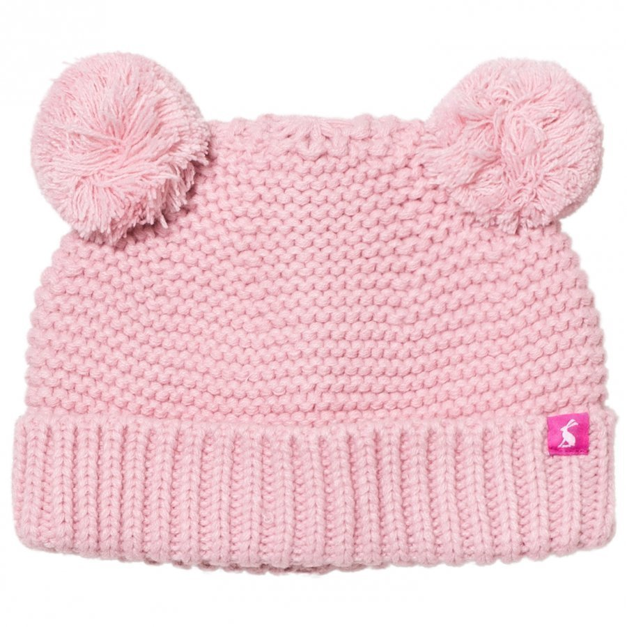 Tom Joule Pink Knit Hat With Pom Poms Pipo