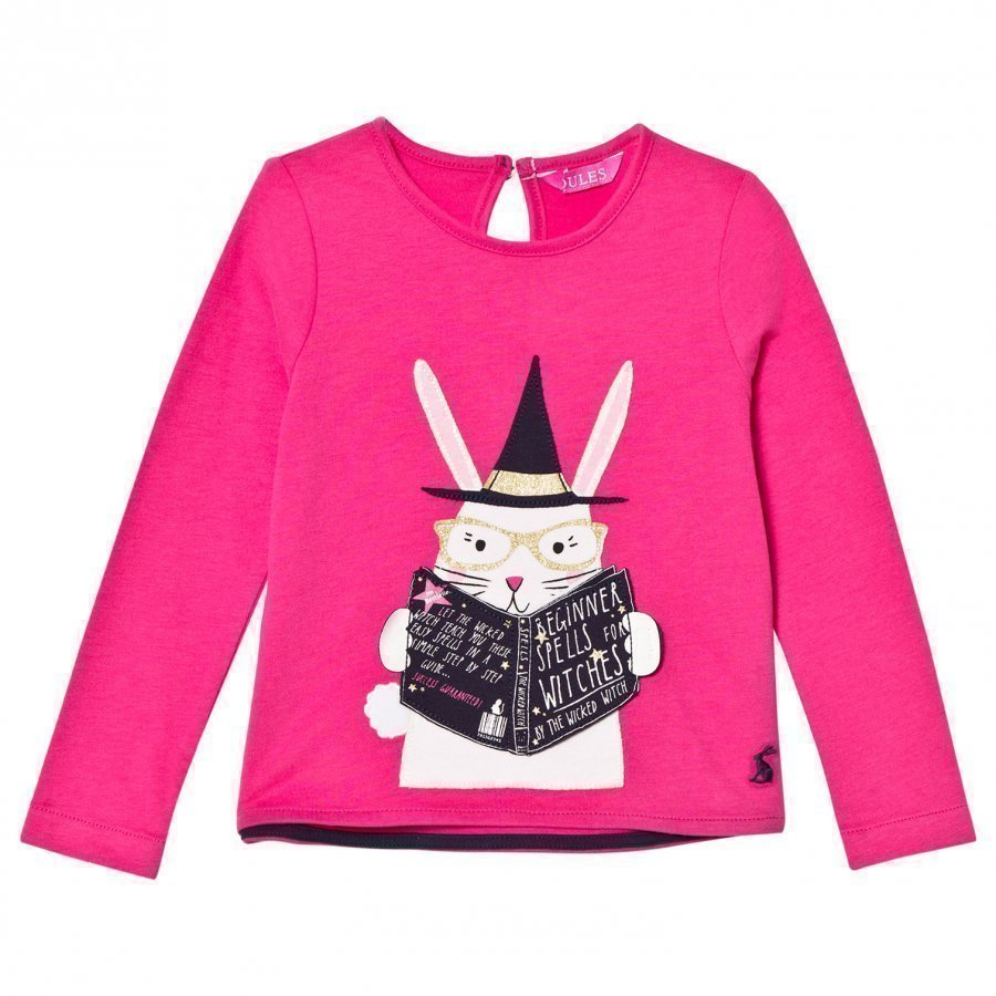Tom Joule Pink Magic Rabbit Applique Tee Pitkähihainen T-Paita