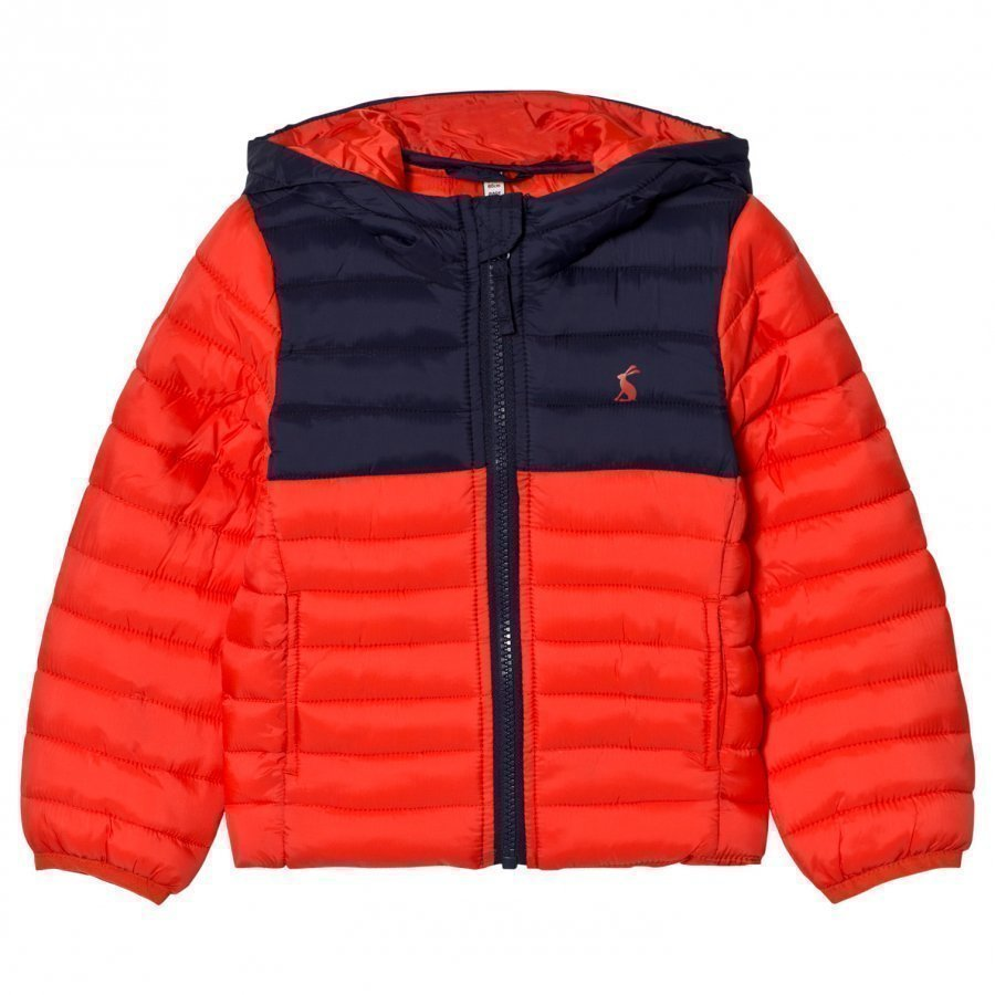 Tom Joule Red Navy Packaway Puffer Jacket Toppatakki