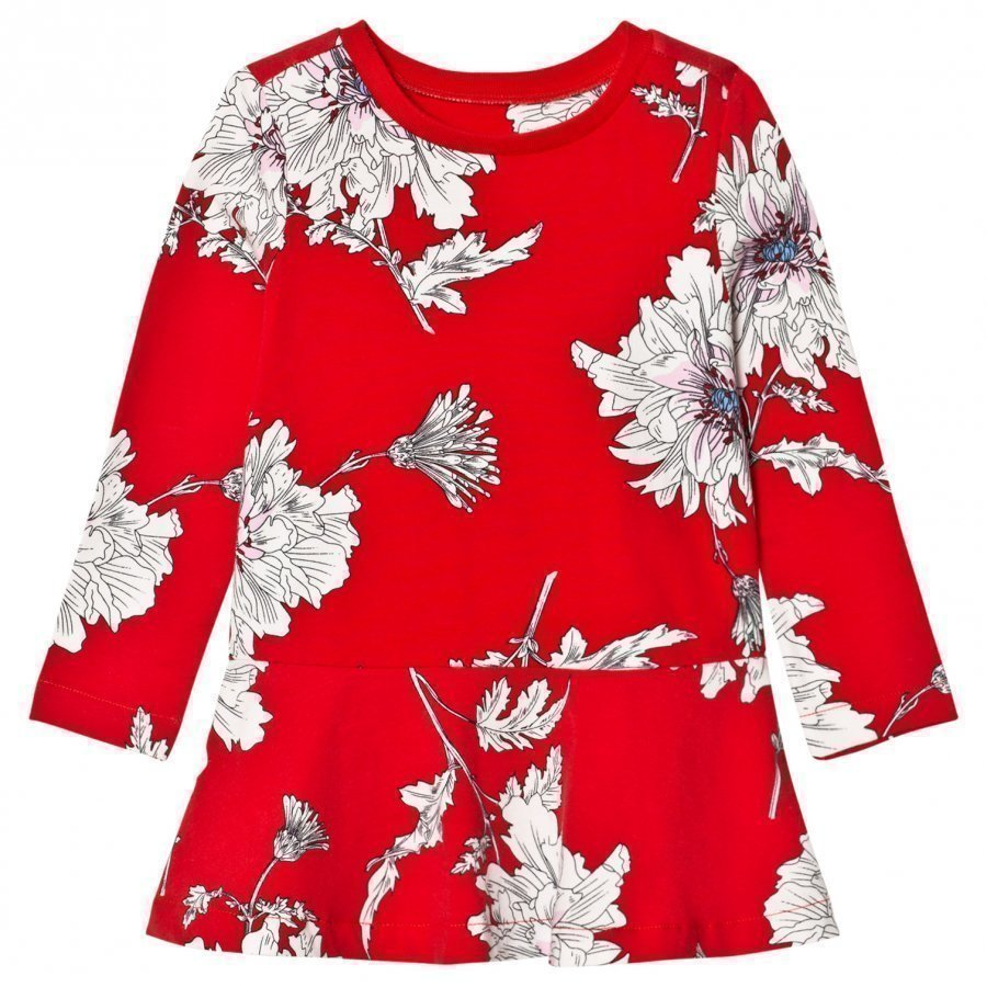 Tom Joule Red Peony Print Jersey Dress Mekko
