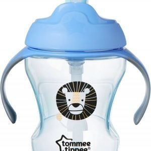 Tommee Tippee Easy Drink Straw Läikkymätön muki 6kk+ 230ml Sininen