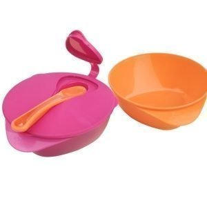 Tommee Tippee EasyScoop -ruokailusetti Vaaleanpunainen/Oranssi