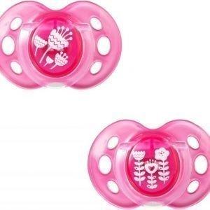 Tommee Tippee Tutti Air Style 6-18 kk 2 kpl Vaaleanpunainen