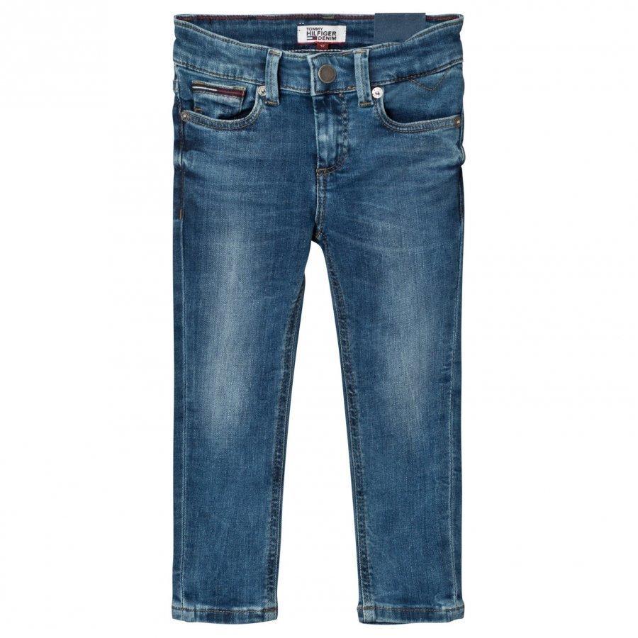 Tommy Hilfiger Blue Mid Wash Scanton Skinny Jeans Farkut