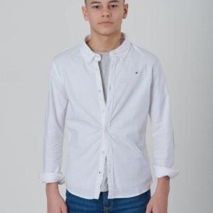 Tommy Hilfiger Boys Stretch Oxford Shirt L/S Kauluspaita Valkoinen