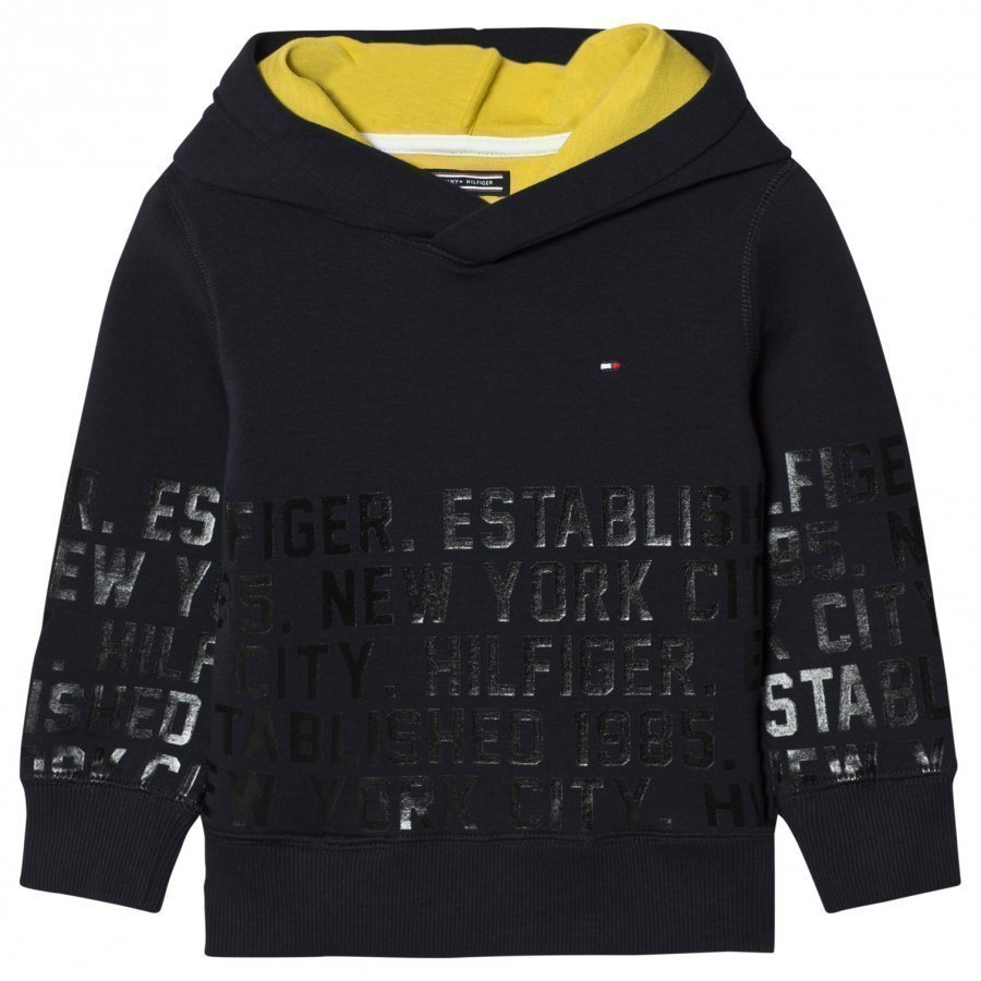 Tommy Hilfiger Branded Over Head Hoodie Black Huppari