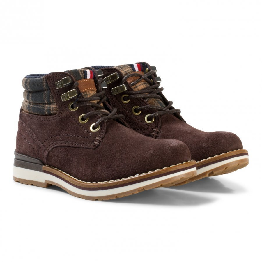 Tommy Hilfiger Brown And Grey Padded Ankle Boots Nilkkurit