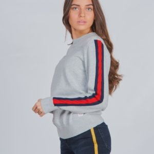Tommy Hilfiger Cable Sleeve Sweater Neule Harmaa