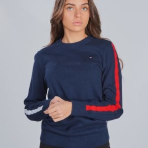 Tommy Hilfiger Cable Sleeve Sweater Neule Sininen