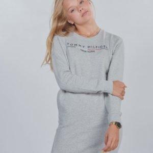 Tommy Hilfiger Crew Sweatshirt Dress Mekko Harmaa