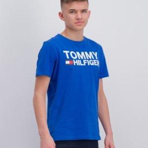 Tommy Hilfiger Essential Graphic Tee T-Paita Sininen