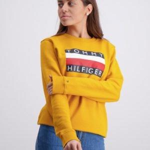 Tommy Hilfiger Essential Hilfiger Sweatshirt Neule Keltainen