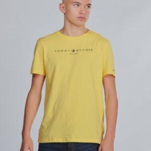 Tommy Hilfiger Essential Hilfiger Tee T-Paita Keltainen