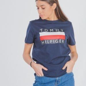 Tommy Hilfiger Essential Hilfiger Tee T-Paita Sininen