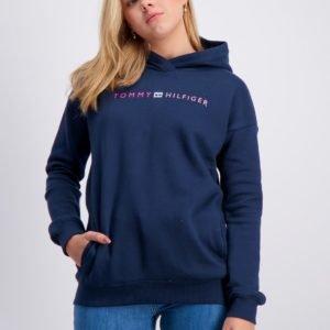 Tommy Hilfiger Essential Logo  Hoodie Huppari Sininen