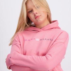 Tommy Hilfiger Essential Logo  Hoodie Huppari Vaaleanpunainen