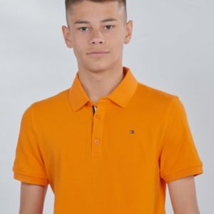 Tommy Hilfiger Essential Slim Polo S/S Pikee Oranssi