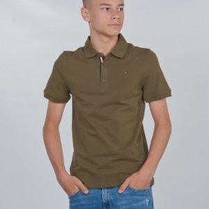 Tommy Hilfiger Essential Slim Polo S/S Pikee Vihreä