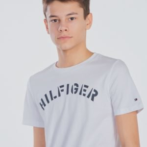 Tommy Hilfiger Essential Tommy Graphic Tee T-Paita Valkoinen