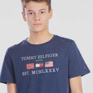 Tommy Hilfiger Flags Alpine Tee T-Paita Sininen