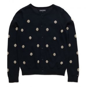 Tommy Hilfiger Girls Dot Cn Cardigan L/S