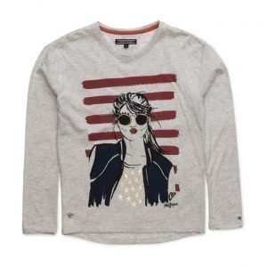Tommy Hilfiger Girls Face Cn Knit L/S