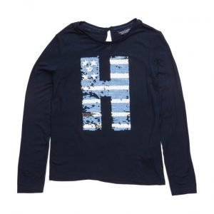 Tommy Hilfiger Girls Sparkle Cn Knit L/S